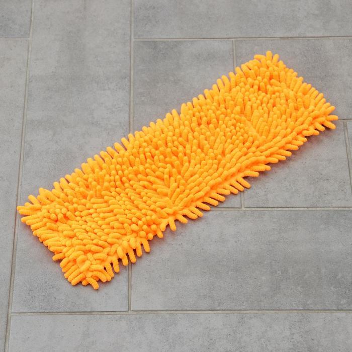 Насадка для плоской швабры 40×10 см, микрофибра, букли, цвет МИКС