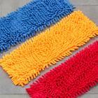 Насадка для плоской швабры Доляна, 40×10 см, 80 гр, микрофибра букли, цвет МИКС - Фото 5
