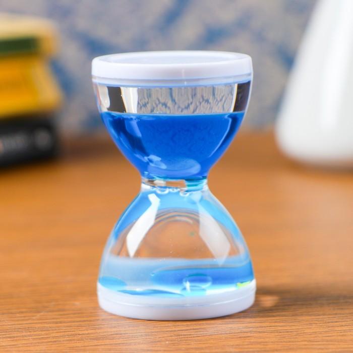 Песочные часы Бордерия, гелевые, 7 х 5 см, на 1 минуту, микс