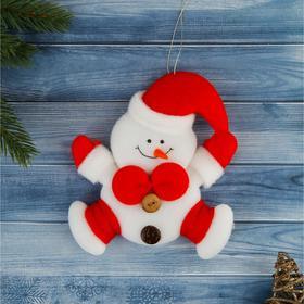 """Мягкая подвеска """"Снеговик в прыжке"""" 12*11 см"""