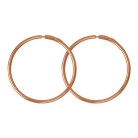 """Серьги """"Кольца"""" d=2,5см, позолота"""