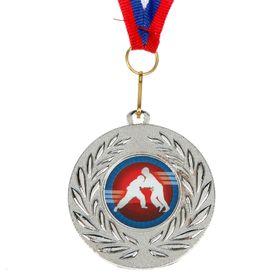 Медаль тематическая 070 'Дзюдо', серебро Ош