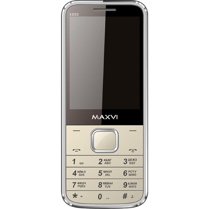 Мобильный телефон Maxvi X850, золотой