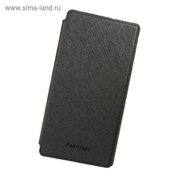 """Чехол Partner Book-case 5,0"""", черный  (размер 7.2*14.1 см)"""