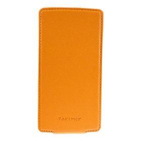 """Чехол Partner Flip-case 4,2"""", оранжевый (размер 6.9*13.0 см)"""