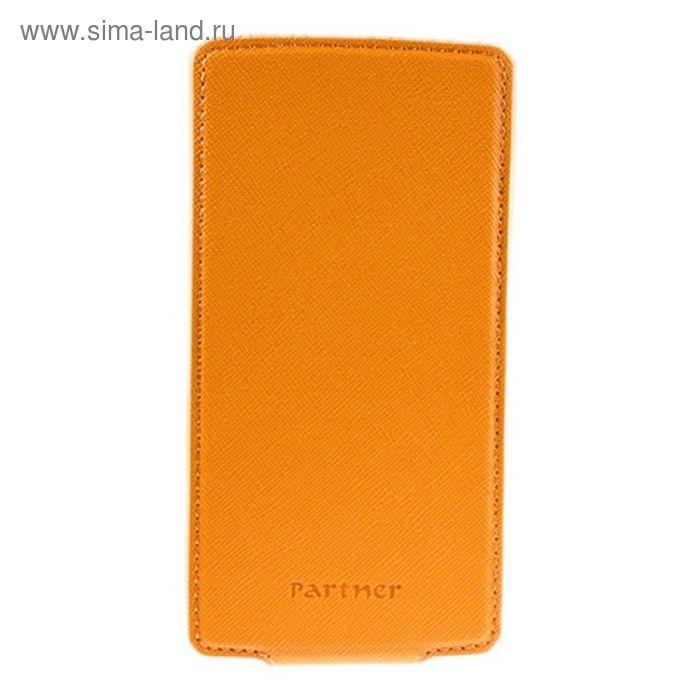 """Чехол Partner Flip-case 4,5"""", оранжевый (размер 7*13.5 см)"""