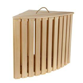 Ящик для белья угловой из дерева 'Комфорт', 60×68×48см, 'Добропаровъ' Ош
