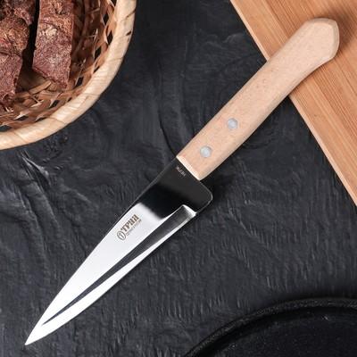 Нож кухонный поварской «Универсал», лезвие 12,8 см, с деревянной ручкой - Фото 1