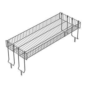 Надстройка для промо-стола, 4 складные опоры, 119*44*45 см, высота корзины - 12 см, цвет хром Ош