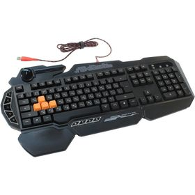 Клавиатура A4Tech Bloody B314, игровая, проводная, подсветка, 114 клавиши, USB, чёрная