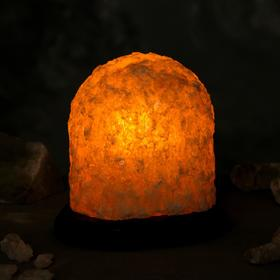 Соляная лампа 'Гора малая', цельный кристалл, 15 см, 2-3 кг Ош