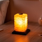"Соляная лампа ""Зебра арома"", 14 см × 14 см × 17,5 см, цельный кристалл, 2-3 кг"