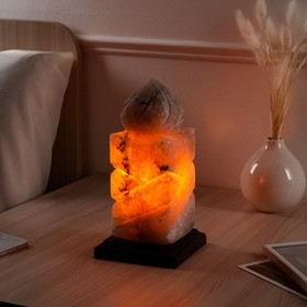Соляная лампа 'Свеча', цельный кристалл, 26 см, 3-4 кг Ош