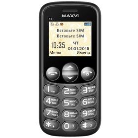 Сотовый телефон Maxvi B1, черный