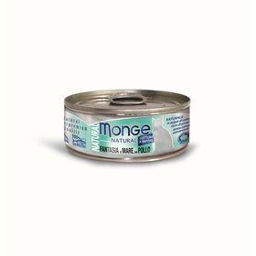 Влажный корм Monge Cat Natural для кошек, морепродукты с курицей, 80 г