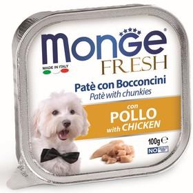 Влажный корм Monge Dog Fresh для собак, курица, ламистер, 100 г