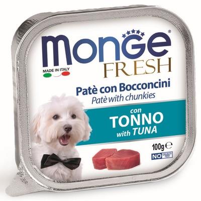 Влажный корм Monge Dog Fresh для собак, тунец, 100 г - Фото 1