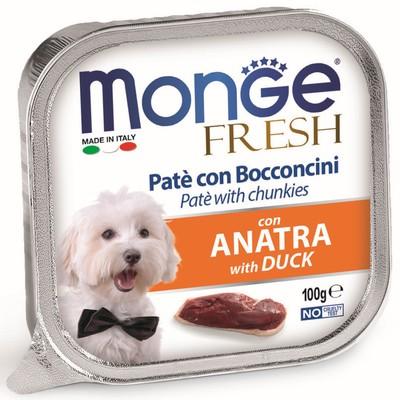 Влажный корм Monge Dog Fresh для собак, утка, 100 г - Фото 1