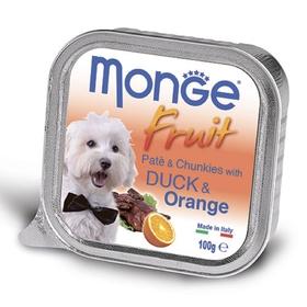 Влажный корм Monge Dog Fruit для собак, утка с апельсином, ламистер, 100 г
