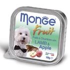 Влажный корм Monge Dog Fruit для собак, ягненок с яблоком, ламистер, 100 г