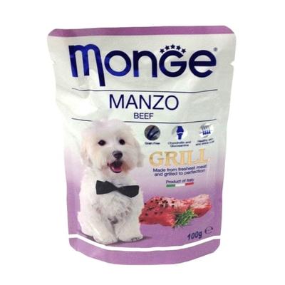 Влажный корм Monge Dog Grill Pouch для собак, говядина, пауч, 100 г - Фото 1