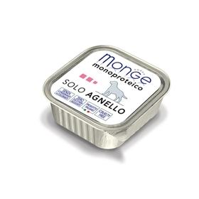 Влажный корм Monge Dog Monoproteico Solo для собак, паштет из ягненка, ламистер, 150 г