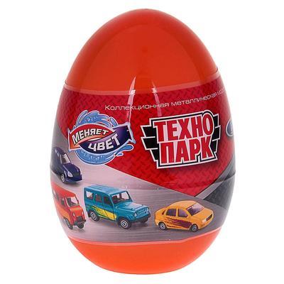 Машинка металлическая «УАЗ, Лада», меняет цвет в воде, в яйце 7,5 см, МИКС - Фото 1