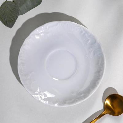 Блюдце Rococo, d=12,5 см, цвет белый - Фото 1