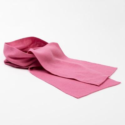 Шарф для девочки, размер 146 х20 см, цвет розовый