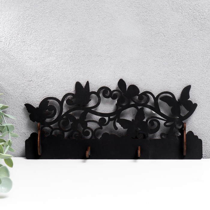 "Ключница открытая ""Бабочки"" 27×12×3 см"