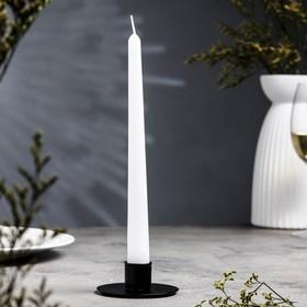 Подсвечник круг черный муар