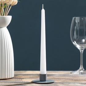 Подсвечник круг серый