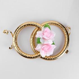 Кольца на радиатор «Свадьба» с розовыми цветами Ош