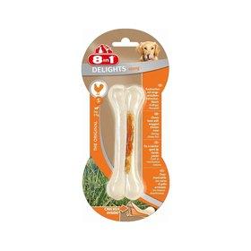 Сверхпрочная косточка 8in1 DELIGHTS Strong S для мелких и средних собак, с курицей,  11 см