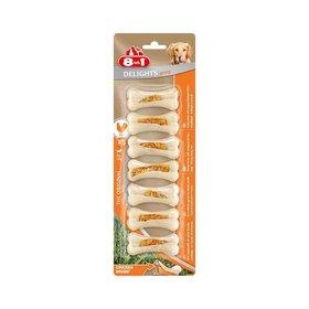 Сверхпрочные косточки 8in1 DELIGHTS Strong XS для мелких собак, с куриным мясом, 7х7,5 см