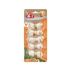 Косточки для мелких собак 8in1 DELIGHTS XS, 7х7,5 см