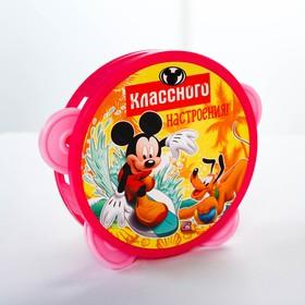 Бубен 'Весёлые нотки', Клуб Микки мауса, d=10 см, МИКС Ош