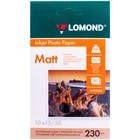Фотобумага LOMOND 102034 для струйной печати 10х15 см (А6), 230 г/м², 50 листов, односторонняя, матовая