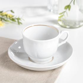 Чайная пара Добрушский фарфоровый завод «Тюльпан», 250 мл, блюдце 15 см