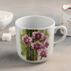 Кружка Добрушский фарфоровый завод «Лагуна. Бамбуковая орхидея», 350 мл