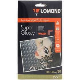 Фотобумага LOMOND 1108103 для струйной печати А6, 295 г/м², 20 листов