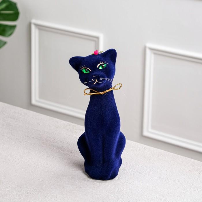 """Копилка """"Алиса новая"""", покрытие флок, синяя, 25 см"""