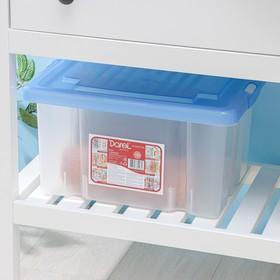 Ящик для хранения с крышкой Darel-box, 18 л, 40×30×23 см, цвет МИКС