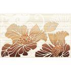 Вставка керамическая 40х25см Кензо коричневый 09-03-15-075-1