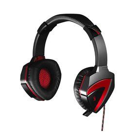 Наушники с микрофоном A4 Bloody G500, черно-красные