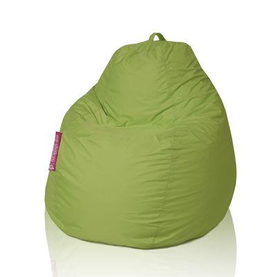 Кресло - мешок «Пятигранный», диаметр 82 см, высота 110 см, цвет тёмно - салатовый