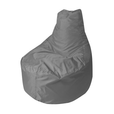 Кресло - мешок «Банан», диаметр 90 см, высота 100 см, цвет серый