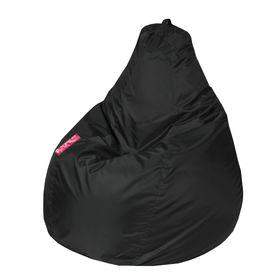 Кресло - мешок «Капля M», диметр 100 см, высота 140 см, цвет чёрный
