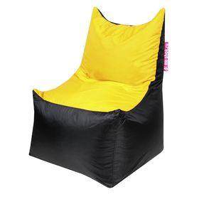Кресло - мешок «Трон», ширина 70 см, глубина 70 см, высота 110 см, цвет жёлтый