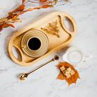 Кофейная ложка «Золото», h=18 см, толщина 2 мм - Фото 4